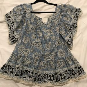 Anthropologie Anna Sui Blouse